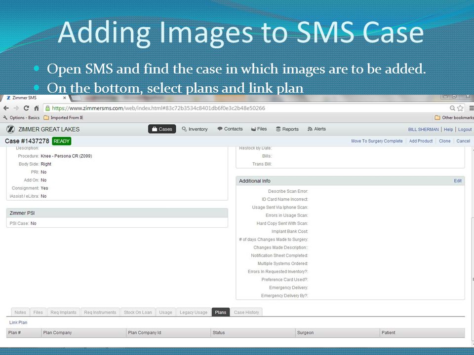 Adding Images to SMS Case