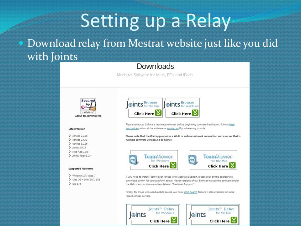 Setting up a Relay Download relay from Mestrat website just like you did with Joints