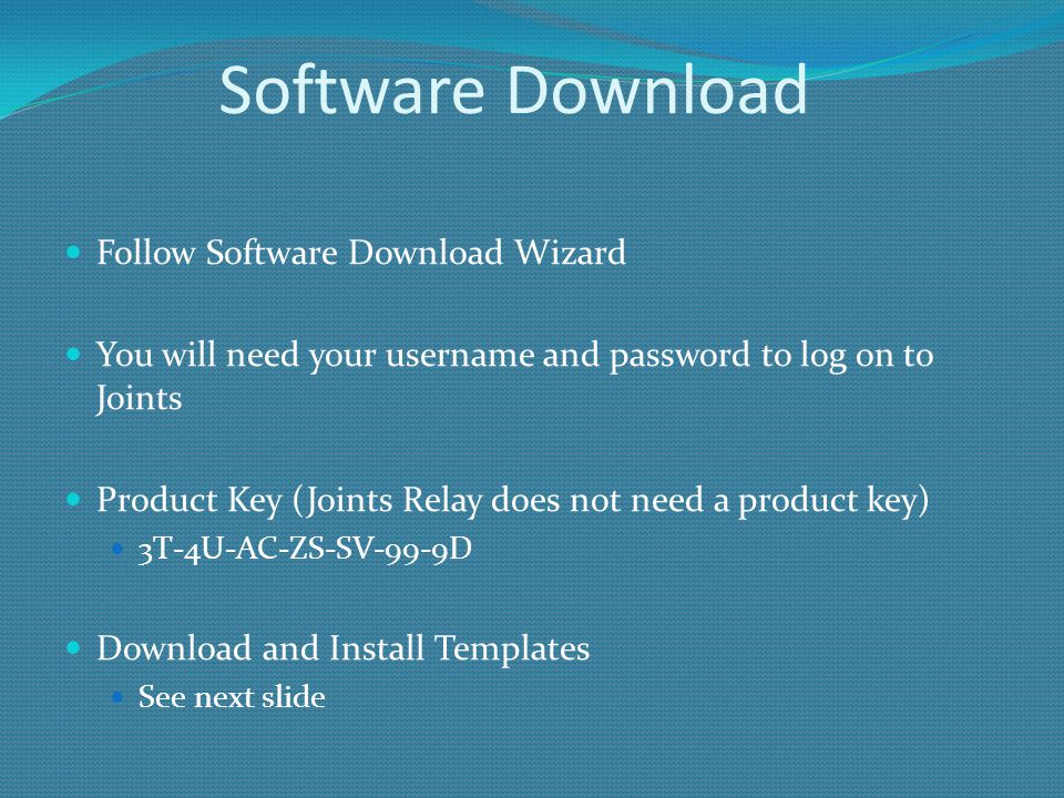 Software Download Follow Software Download Wizard