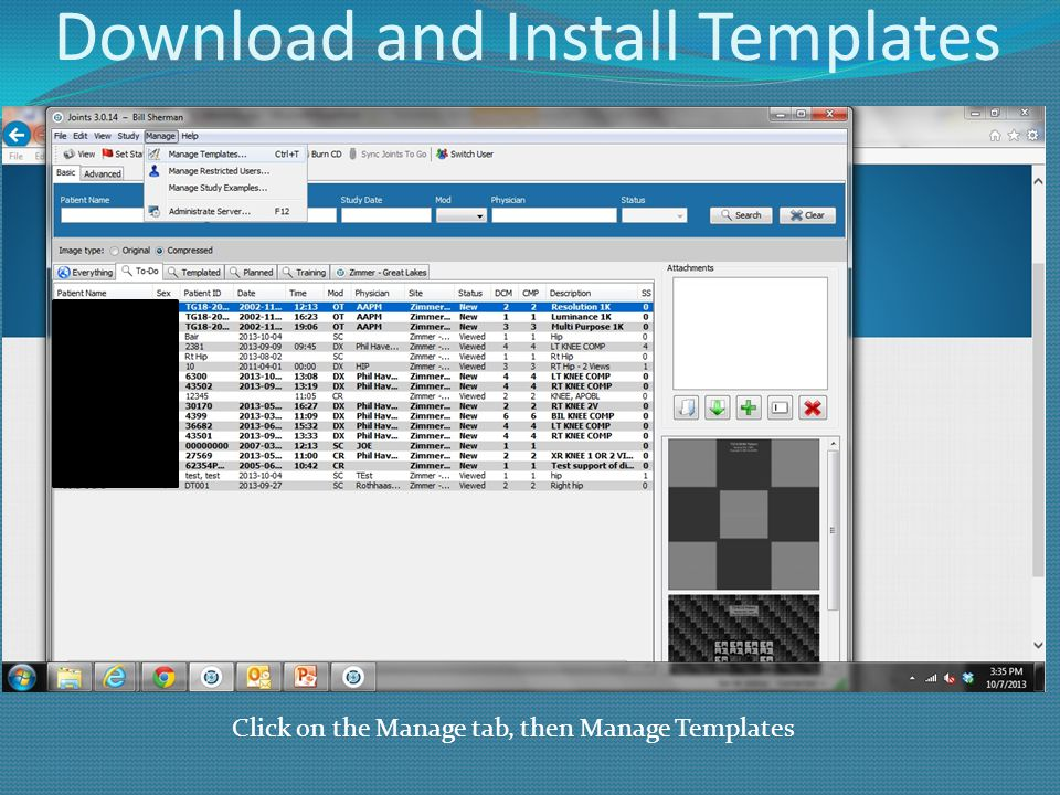 Download and Install Templates