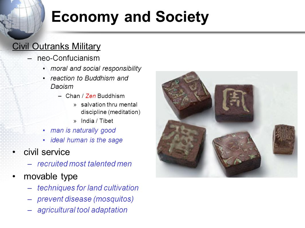 Economy and Society Civil Outranks Military civil service movable type