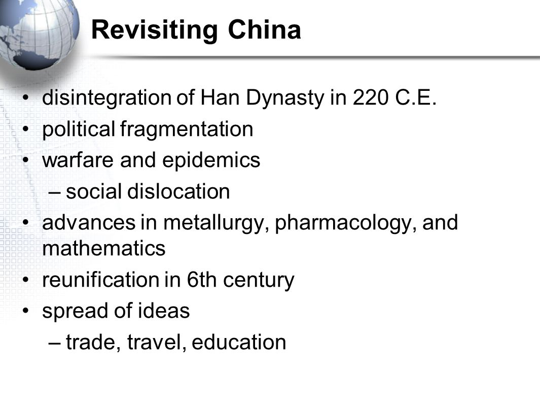 Revisiting China disintegration of Han Dynasty in 220 C.E.