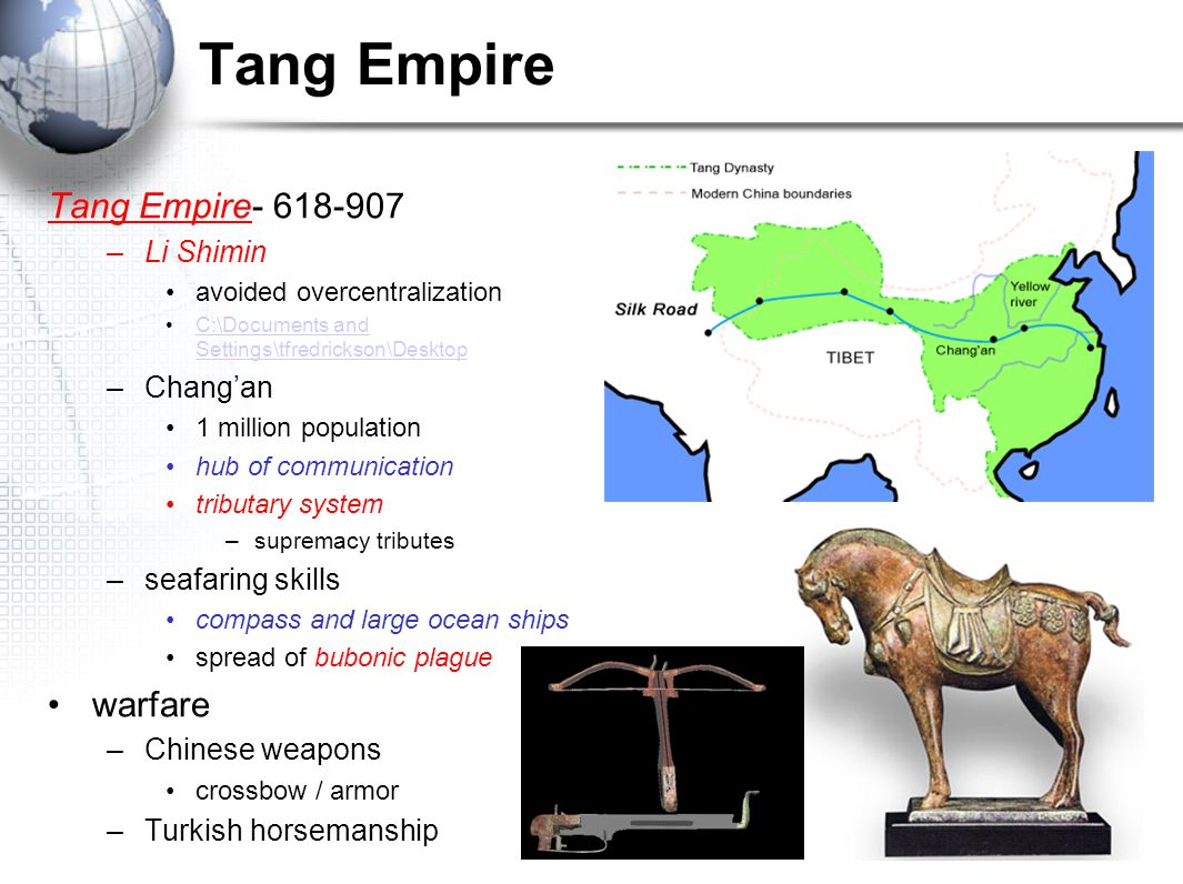 Tang Empire Tang Empire- 618-907 warfare Li Shimin Chang'an