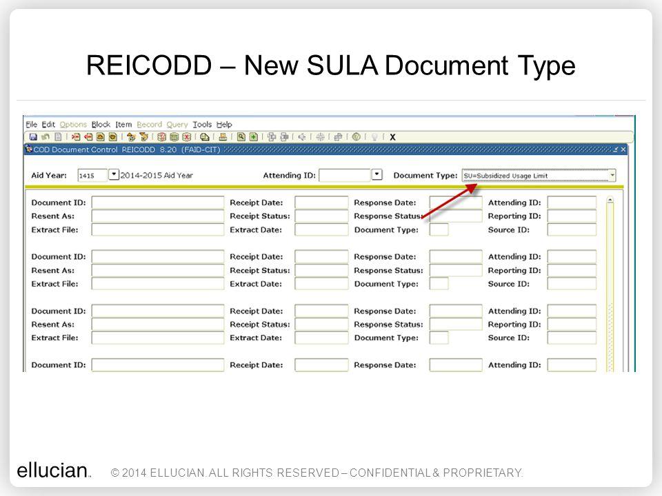 REICODD – New SULA Document Type