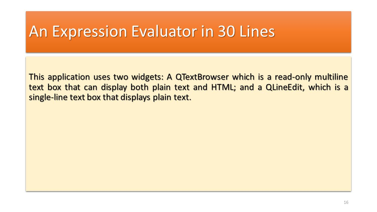 An Expression Evaluator in 30 Lines