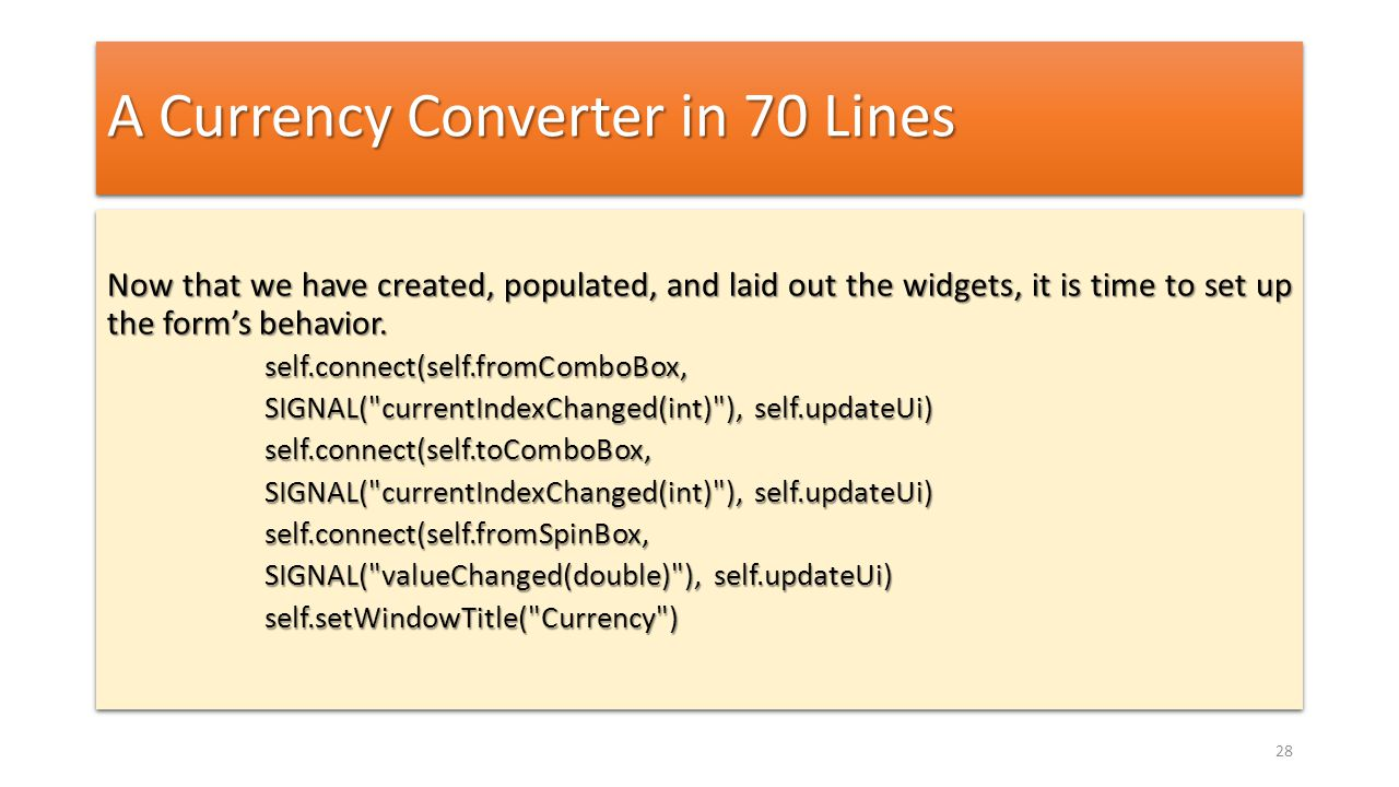 A Currency Converter in 70 Lines