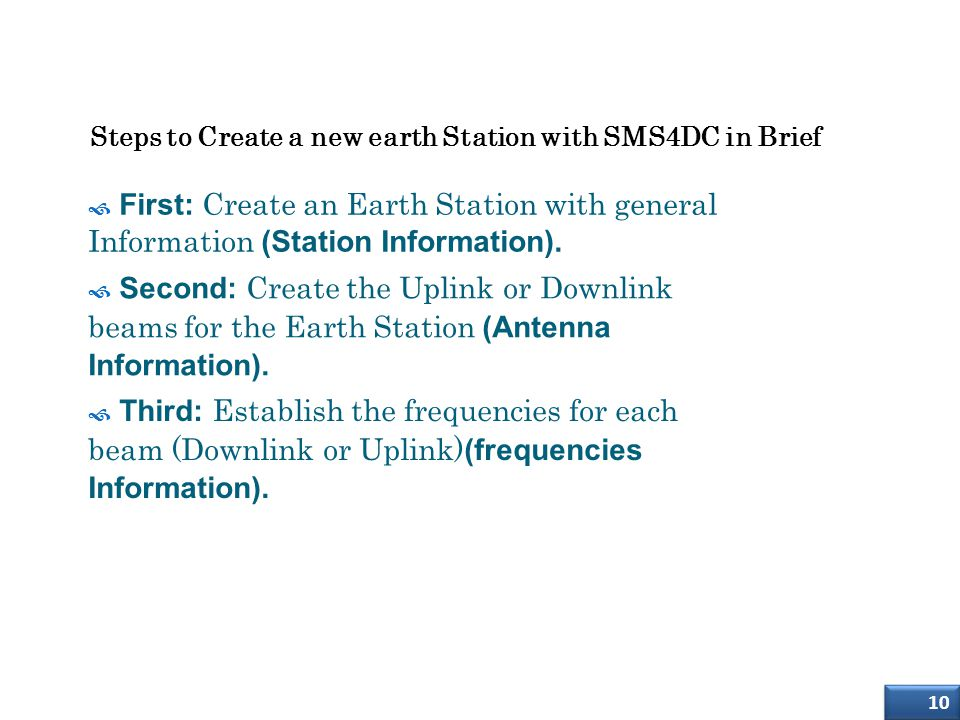 Creation of Earth Station