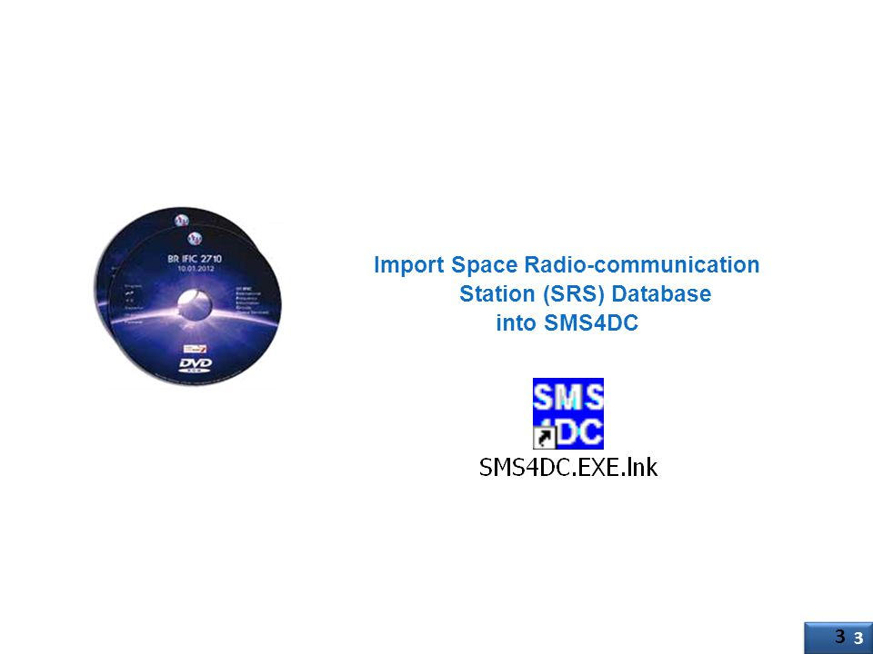 Import Space Radio-communication Station (SRS) Database