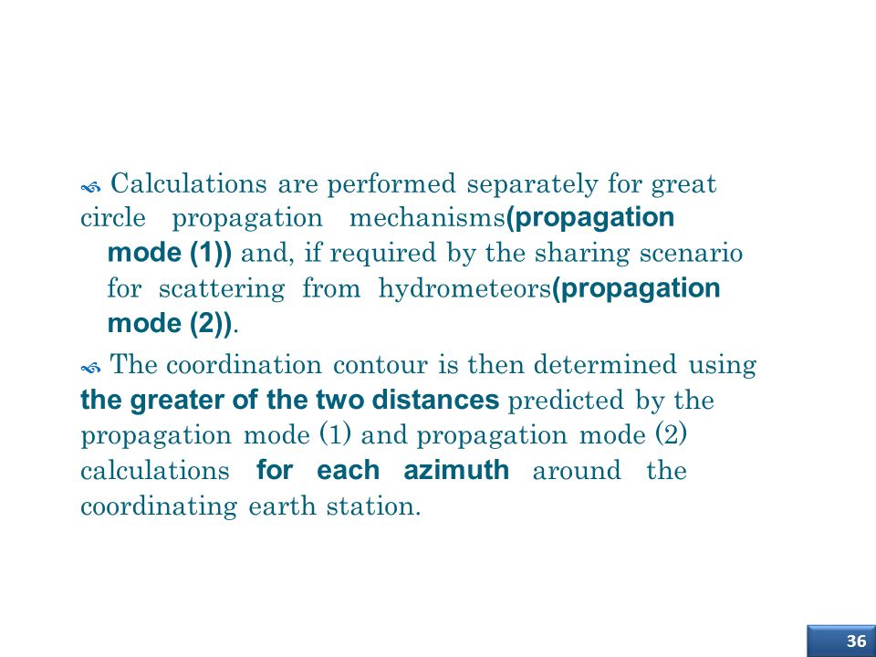 How to determine the coordination area around an earth station (2)