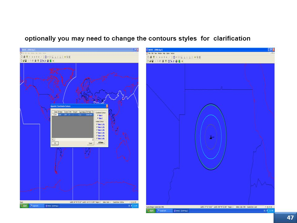 Step Four (3/3) optionally you may need to change the contours styles for clarification