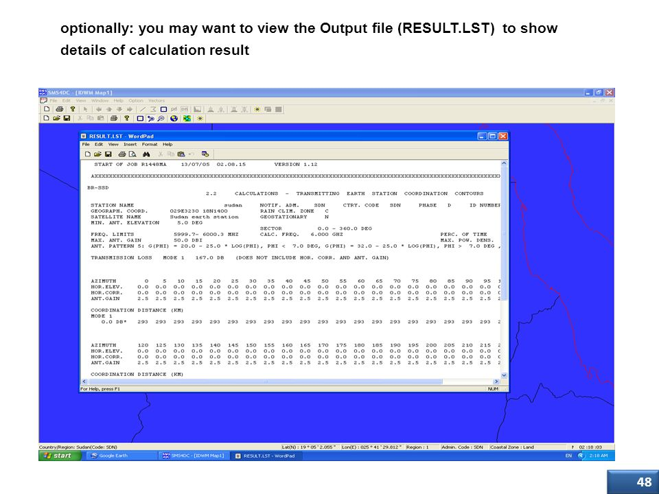 optionally: you may want to view the Output file (RESULT