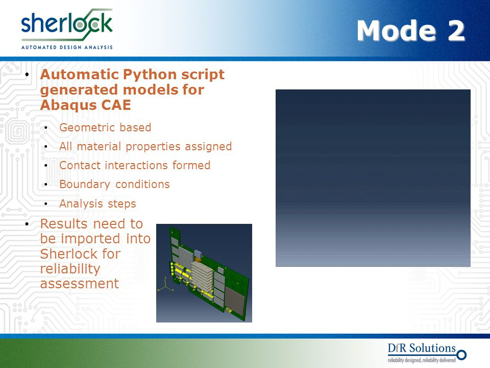 Mode 2 Automatic Python script generated models for Abaqus CAE