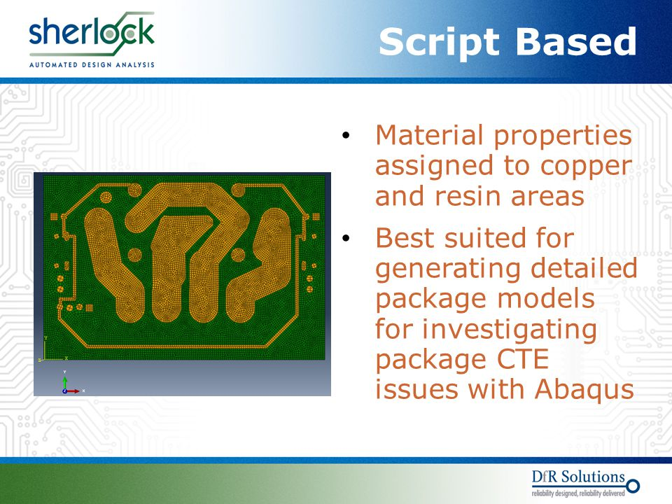 Script Based Material properties assigned to copper and resin areas