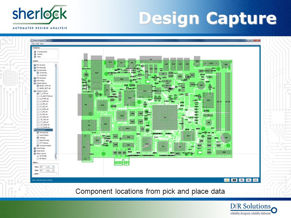 Design Capture Component locations from pick and place data
