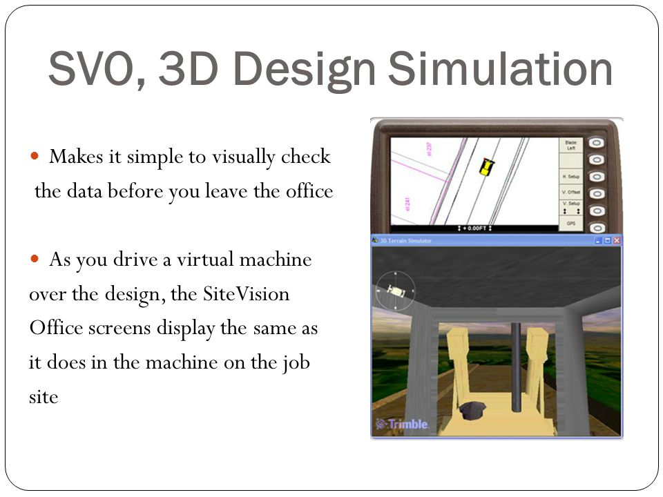 SVO, 3D Design Simulation