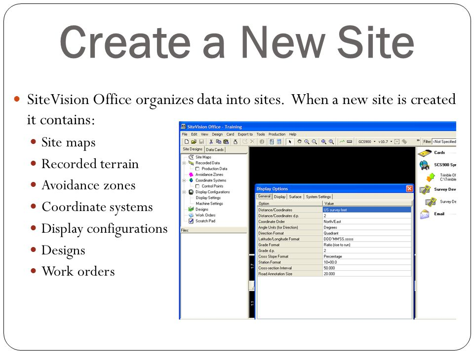 Create a New Site SiteVision Office organizes data into sites. When a new site is created it contains: