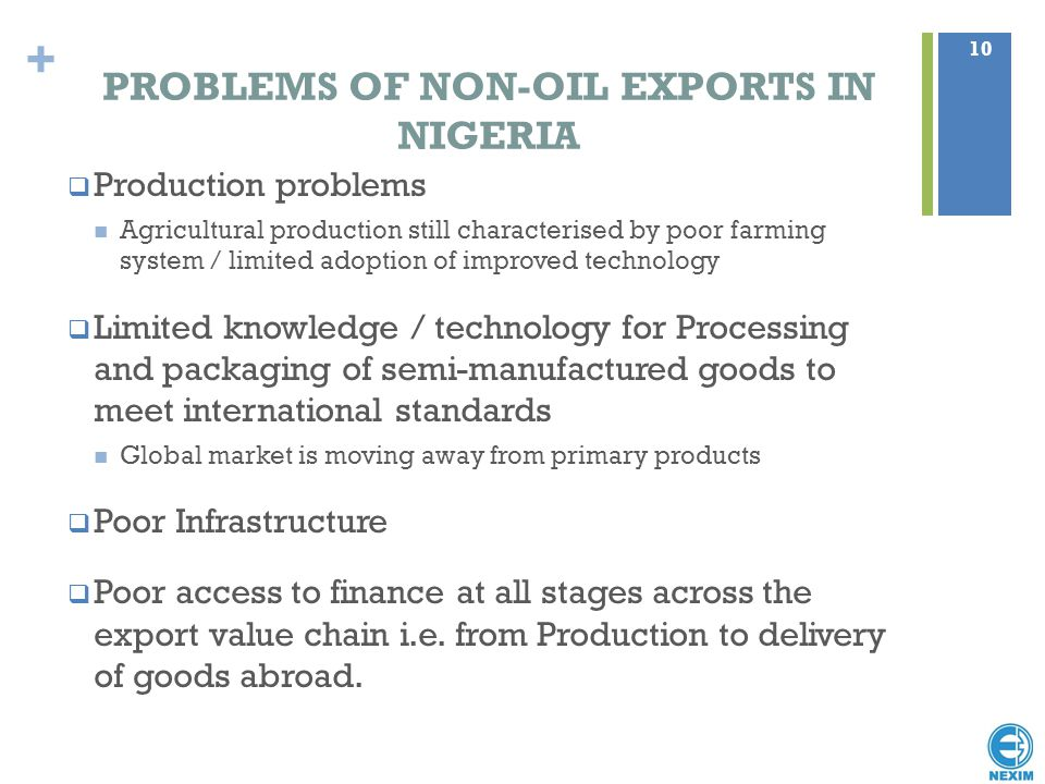 PROBLEMS OF NON-OIL EXPORTS IN NIGERIA
