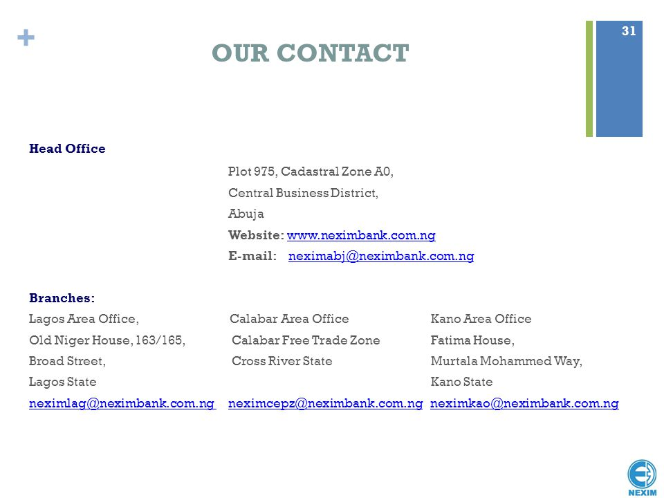 OUR CONTACT