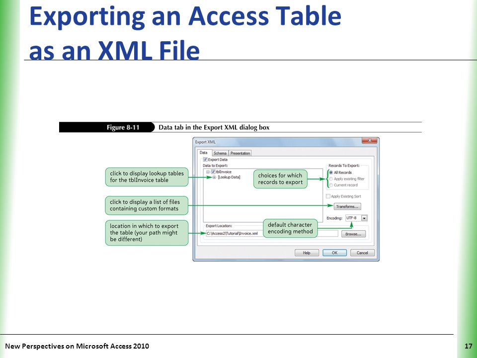 Exporting an Access Table as an XML File
