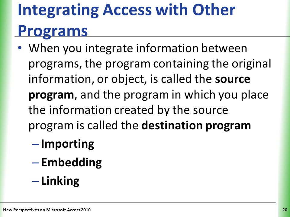 Integrating Access with Other Programs