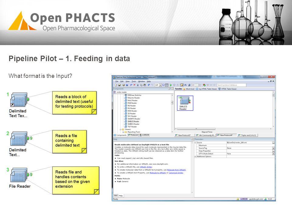 Pipeline Pilot – 1. Feeding in data