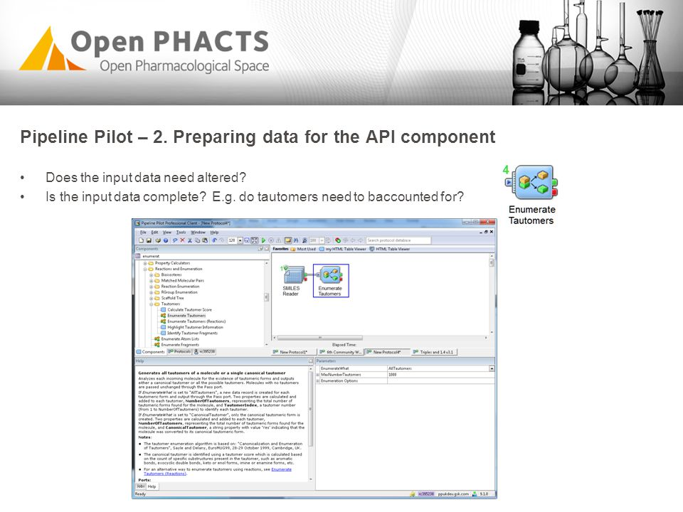 Pipeline Pilot – 2. Preparing data for the API component