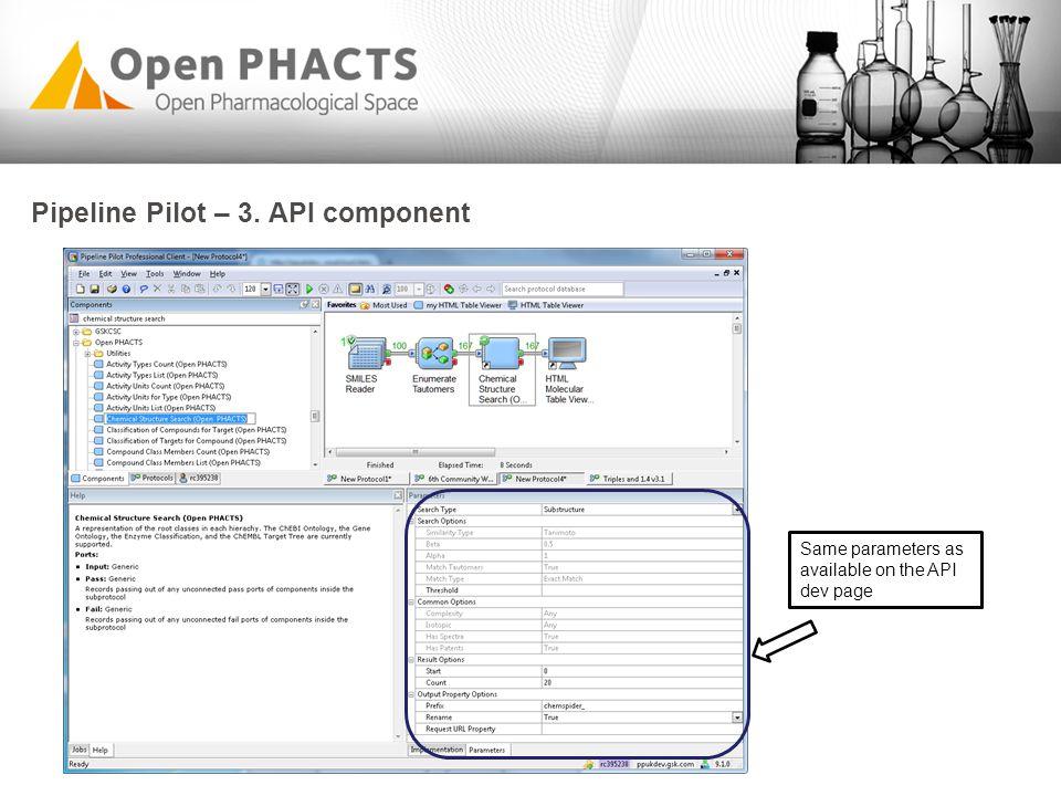 Pipeline Pilot – 3. API component