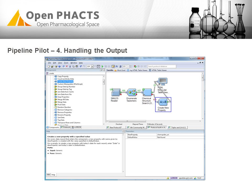 Pipeline Pilot – 4. Handling the Output