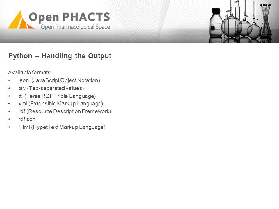 Python – Handling the Output
