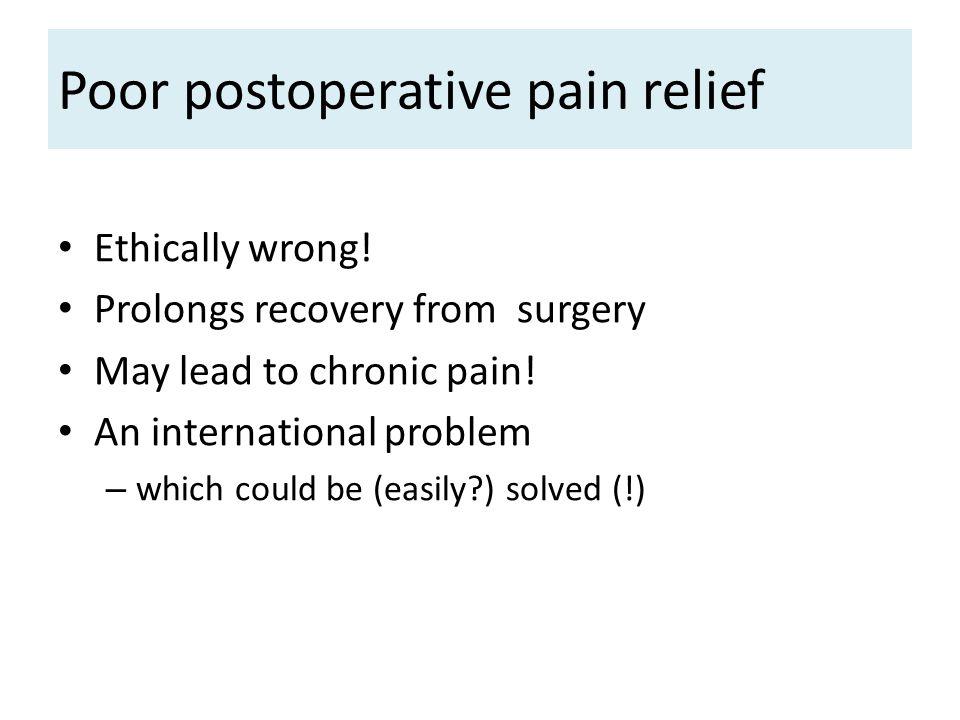Poor postoperative pain relief