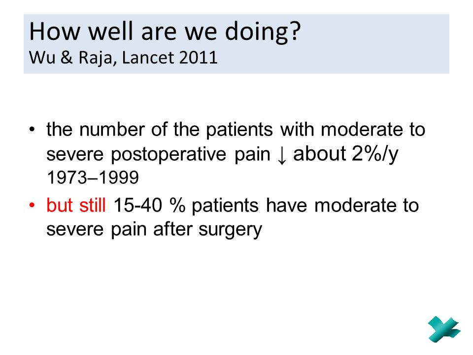 How well are we doing Wu & Raja, Lancet 2011