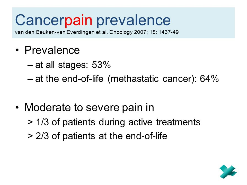 Cancerpain prevalence van den Beuken-van Everdingen et al