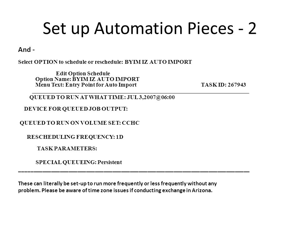 Set up Automation Pieces - 2