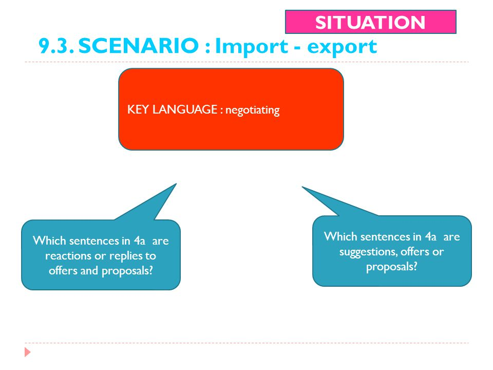 Which sentences in 4a are suggestions, offers or proposals
