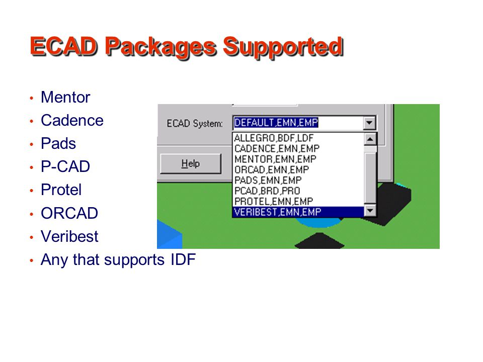 ECAD Packages Supported
