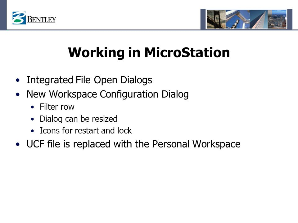Working in MicroStation