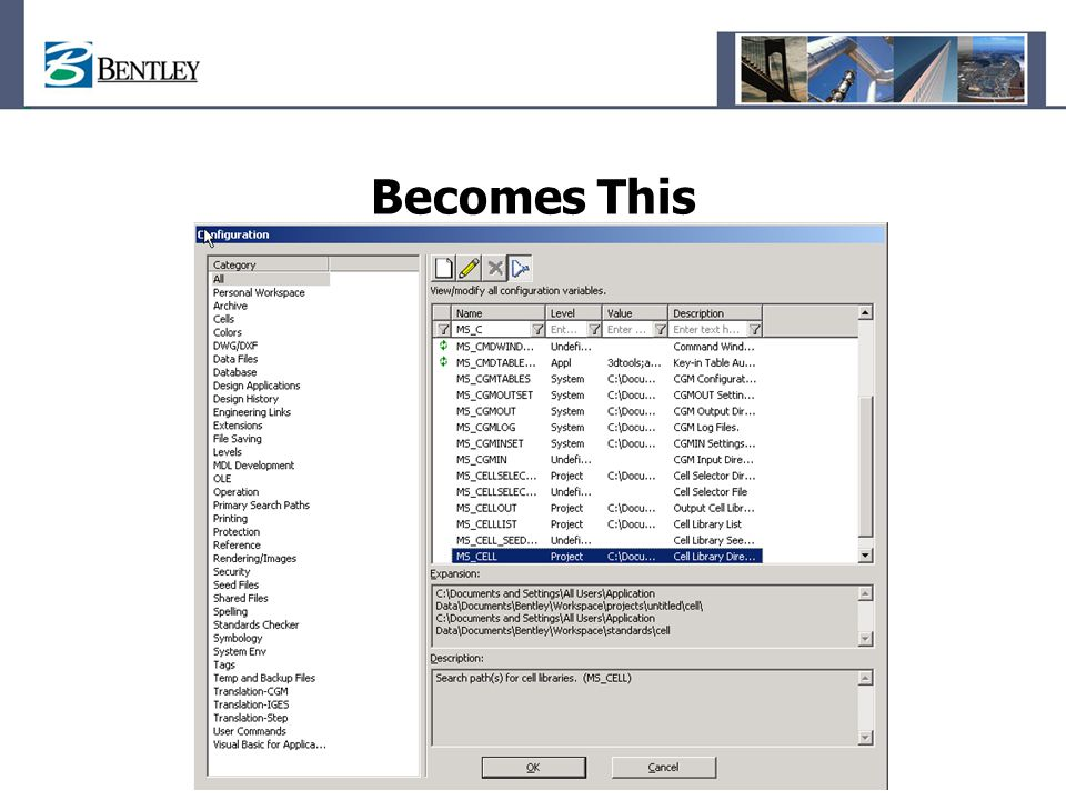 Becomes This Changes – 1. Dialog is resizable 2. Filter row