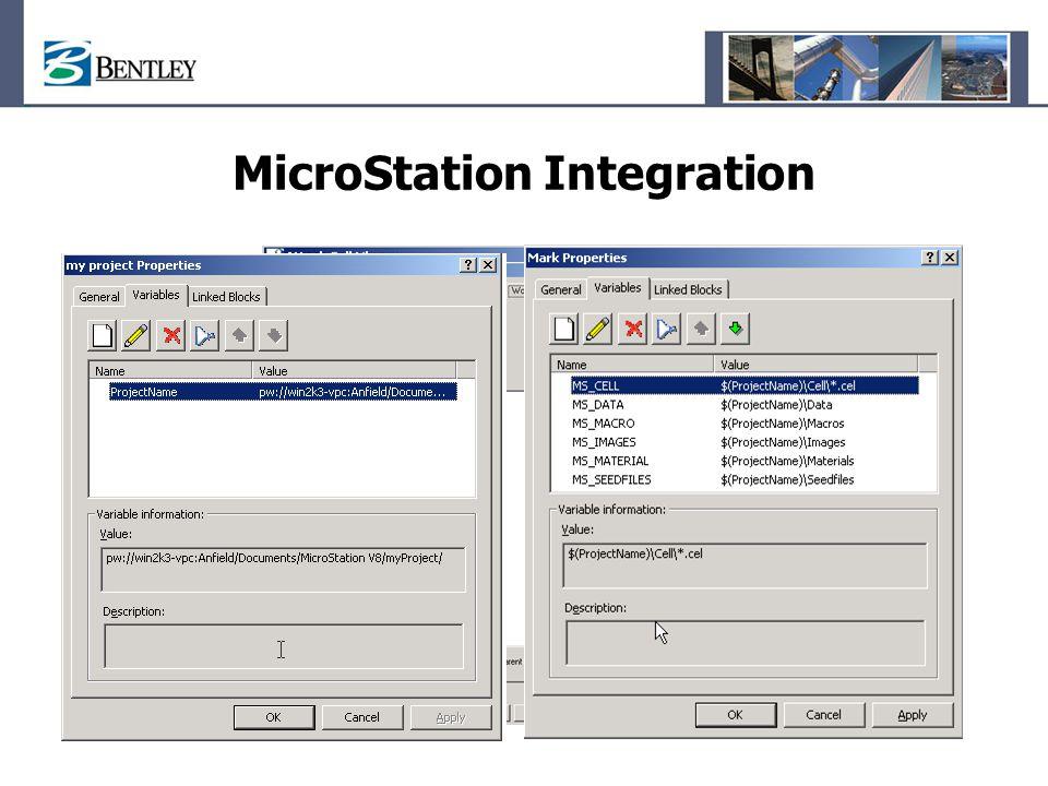 MicroStation Integration