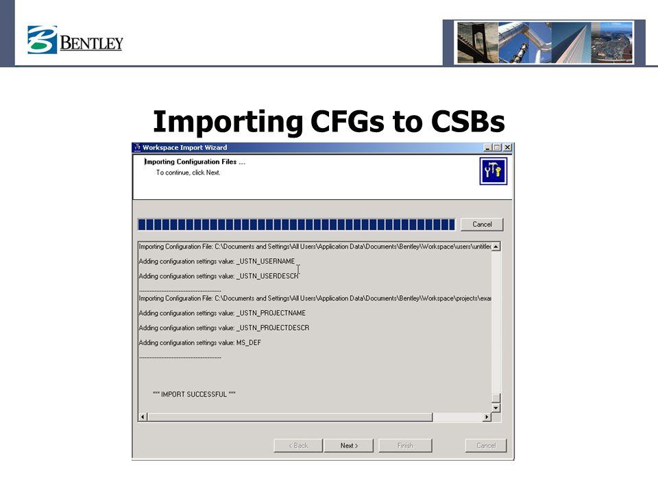 Importing CFGs to CSBs