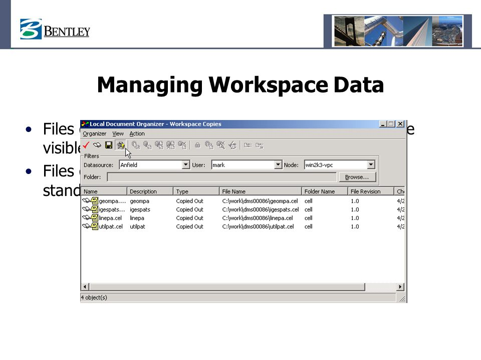 Managing Workspace Data