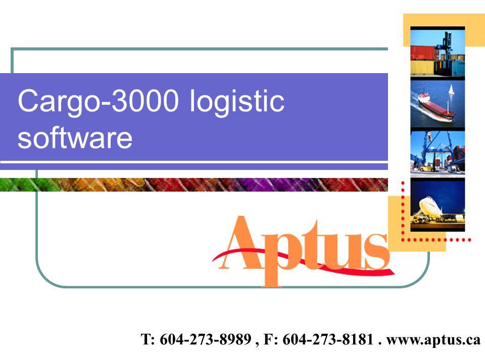 Cargo-3000 logistic software
