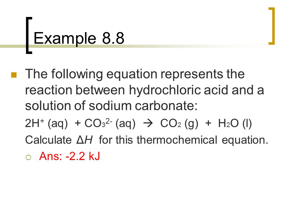 "The ""reaction of sodium hydroxide with hydrochloric acid"""