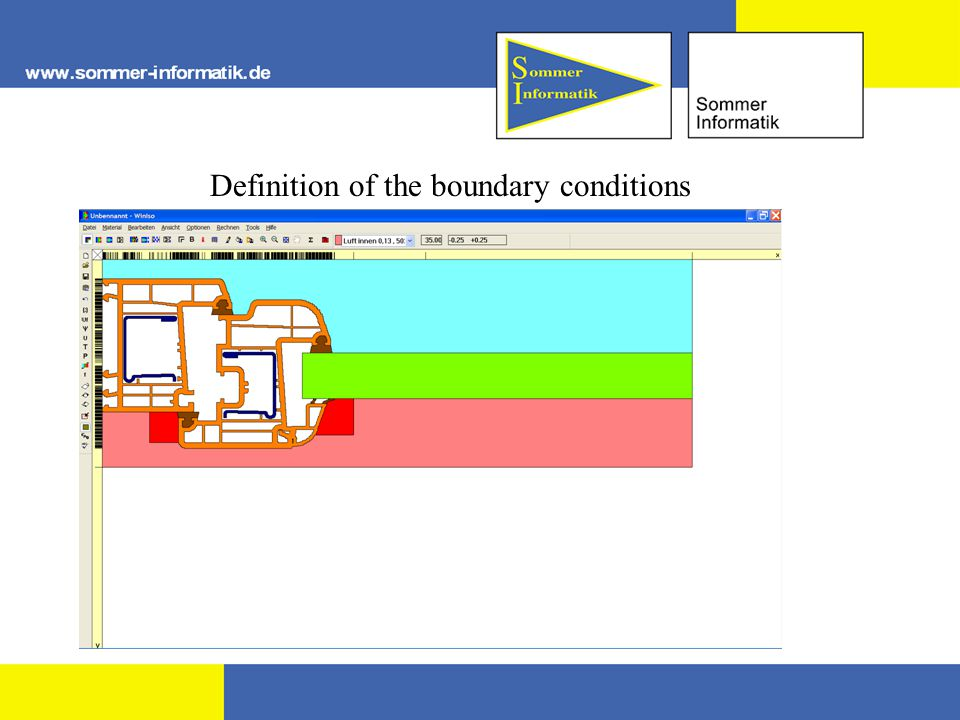 Definition of the boundary conditions