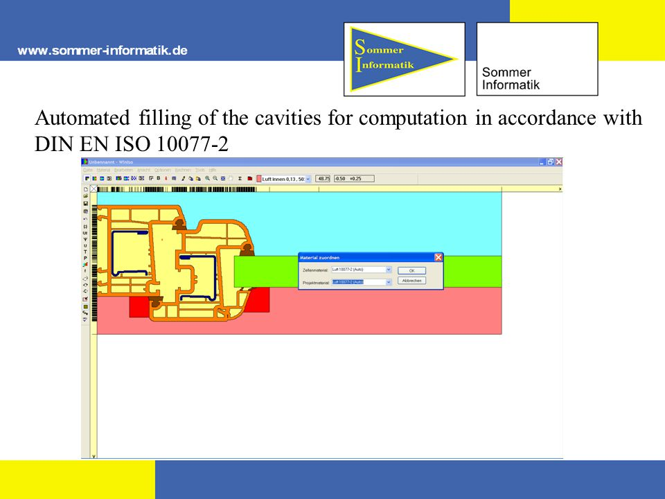 Automated filling of the cavities for computation in accordance with