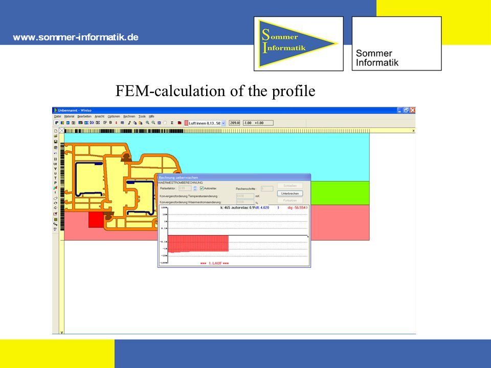 FEM-calculation of the profile