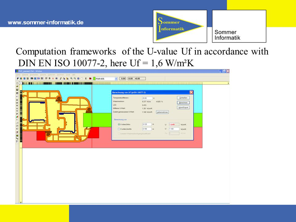 Computation frameworks of the U-value Uf in accordance with