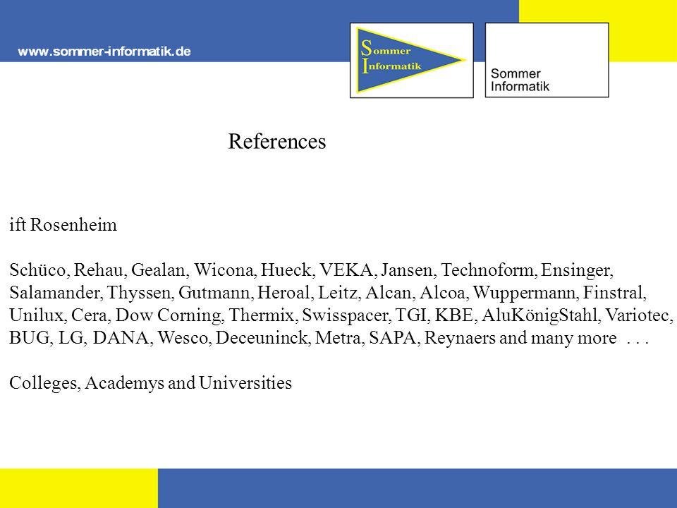 References ift Rosenheim