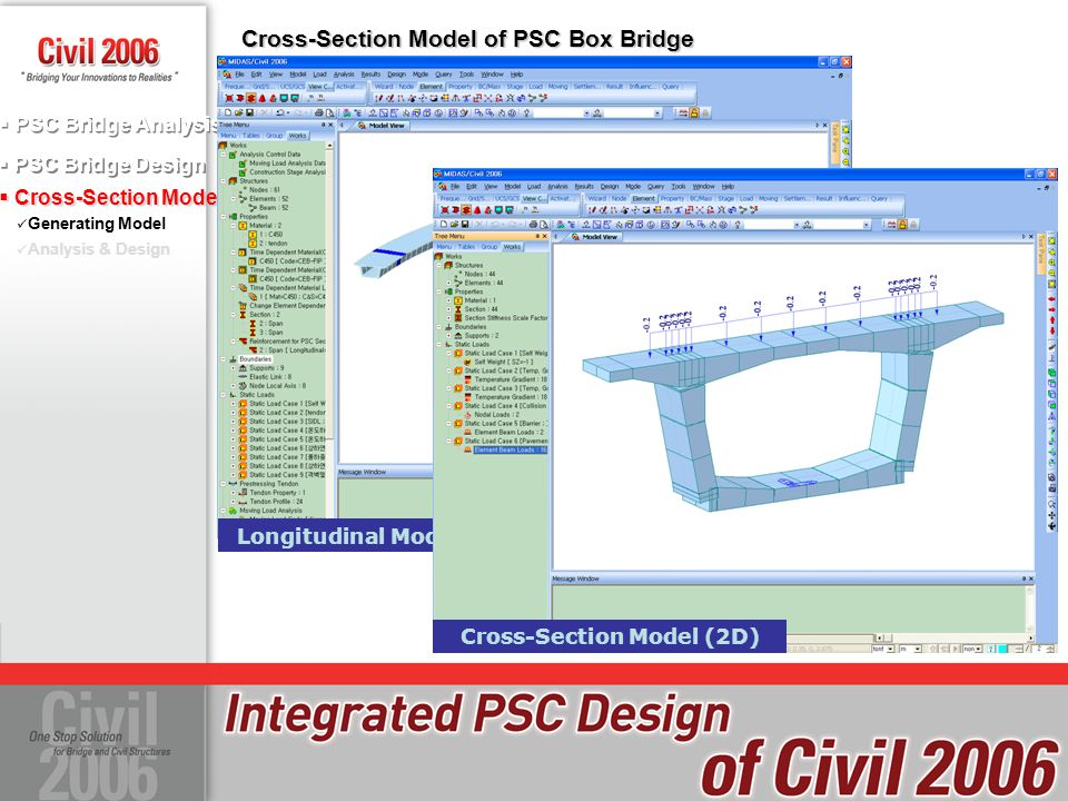 Cross-Section Model of PSC Box Bridge