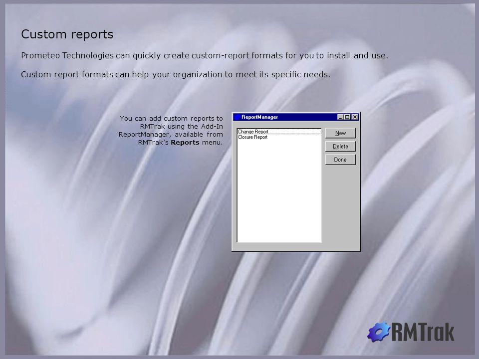 Custom reports Custom reports