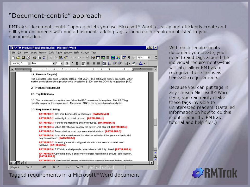 Document-centric approach